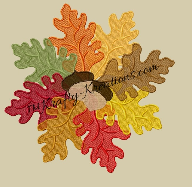 Fsl Oak Leaf And Acorn Doily Wreath